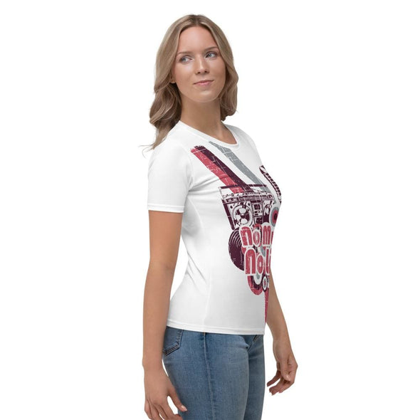 No Music No Life Design on Women's White T-shirt - T-shirts