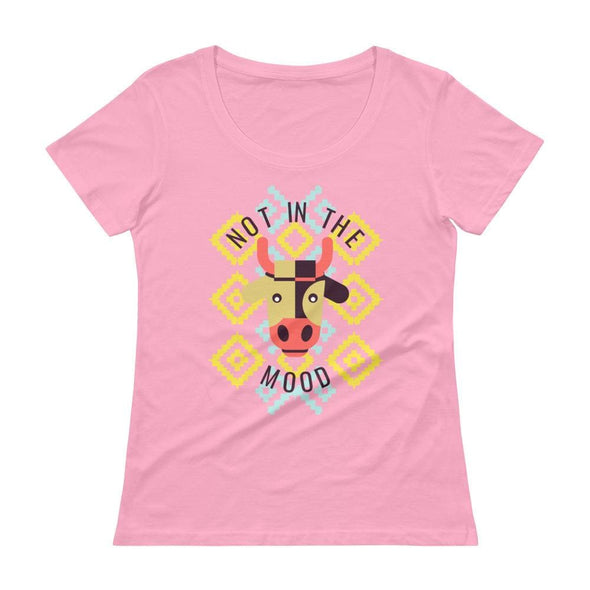 Not in the Mood Ladies' Scoop-neck T-Shirt - Charity Pink /
