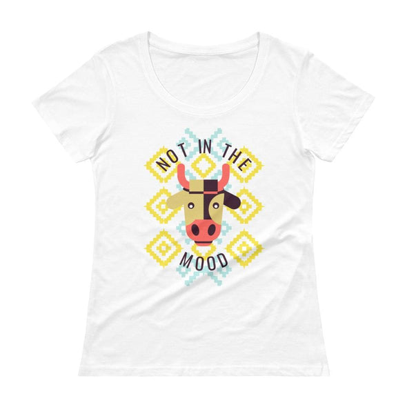 Not in the Mood Ladies' Scoop-neck T-Shirt - White / XS -