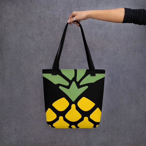 Pineapple Design Tote bag - Black - Tote Bag