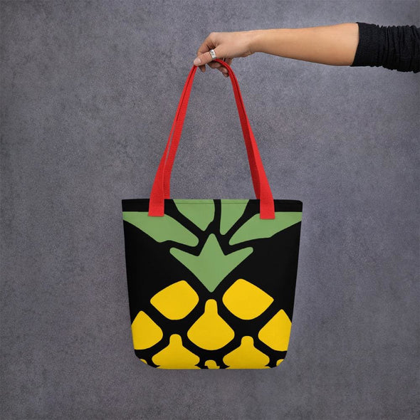Pineapple Design Tote bag - Red - Tote Bag