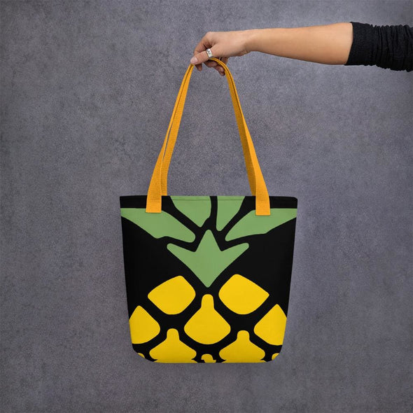 Pineapple Design Tote bag - Yellow - Tote Bag