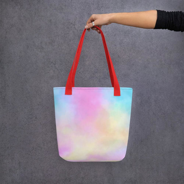 Pink Clouds Design Tote Bag - Red - Tote Bag