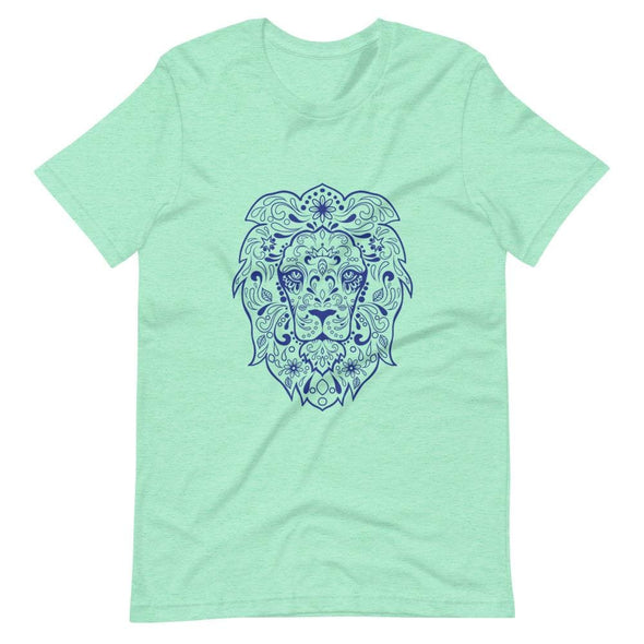 Regal Lion Design on Women's T-Shirt - Heather Mint / S -