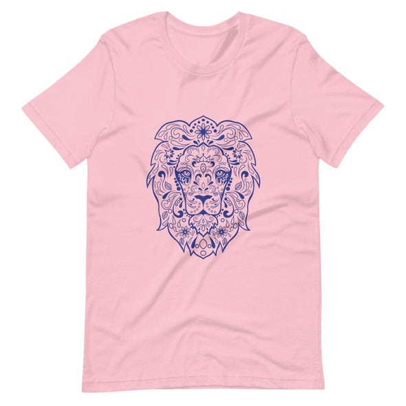Regal Lion Design on Women's T-Shirt - Pink / S - T-shirts