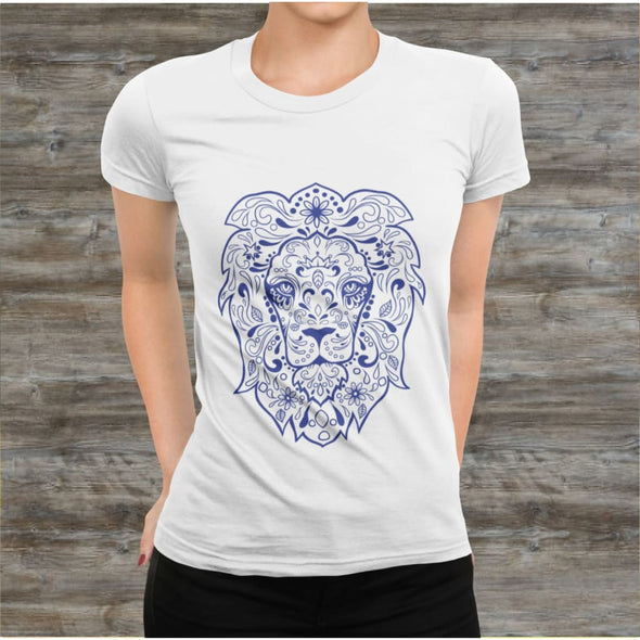 Regal Lion Design on Women's T-Shirt - T-shirts