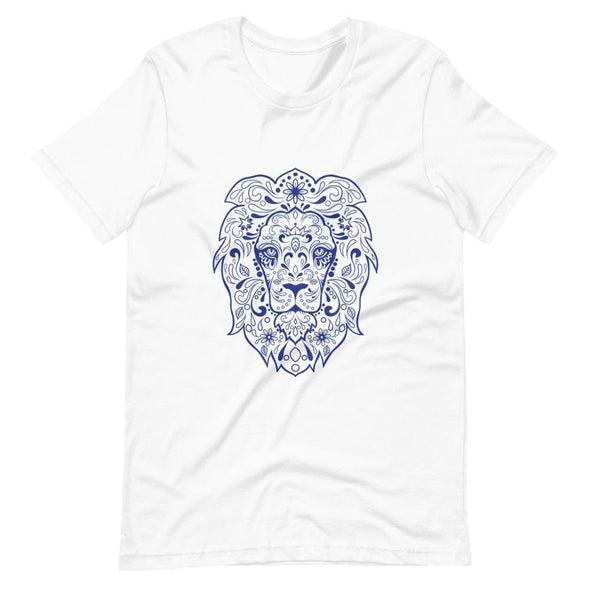 Regal Lion Design on Women's T-Shirt - White / S - T-shirts