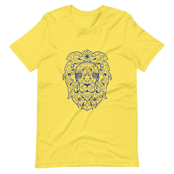 Regal Lion Design on Women's T-Shirt - Yellow / S - T-shirts