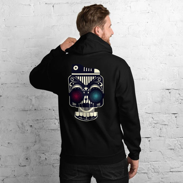 Retro Robot Design on Men's Hoodie - Hoodie