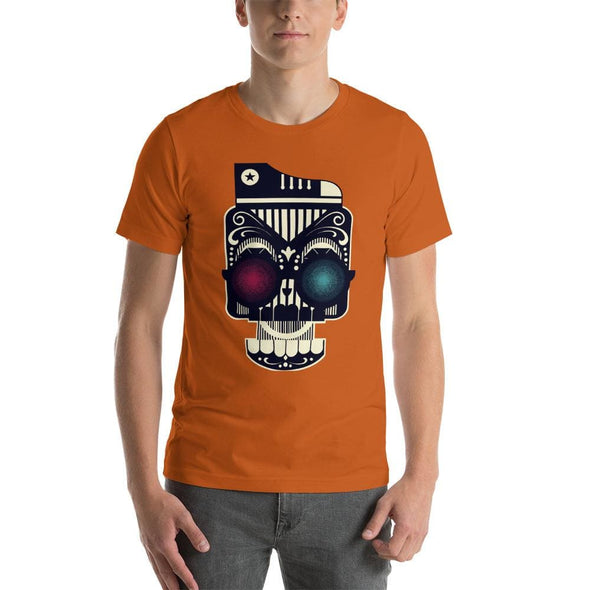 Retro Robot Design on Short-Sleeve T-Shirt - Autumn / S -