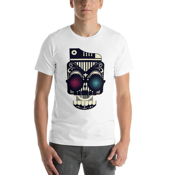 Retro Robot Design on Short-Sleeve T-Shirt - White / XS -