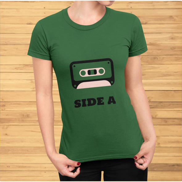 Retro Side A Cassette Tape with Pink Tint T-Shirt - T-shirts