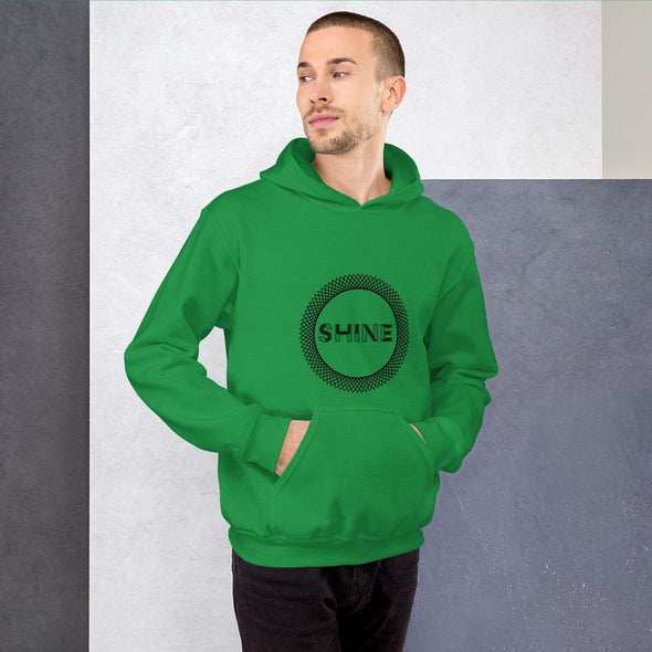 Shine Design on Men's Hoodie - Irish Green / S - Hoodie