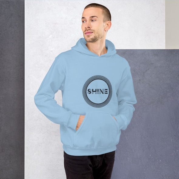 Shine Design on Men's Hoodie - Light Blue / S - Hoodie