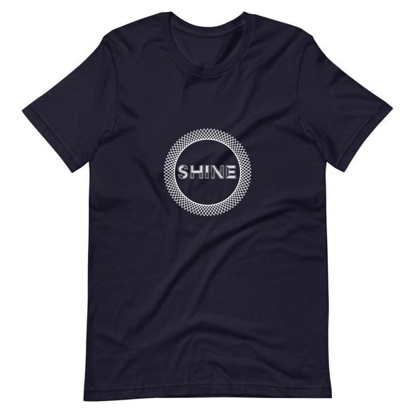 Shine Elaborate Circle Design on Dark Colored T-Shirt - Navy