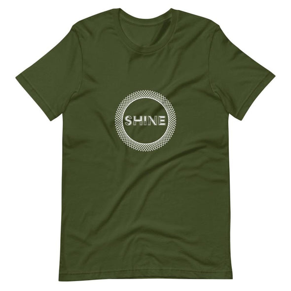 Shine Elaborate Circle Design on Dark Colored T-Shirt -
