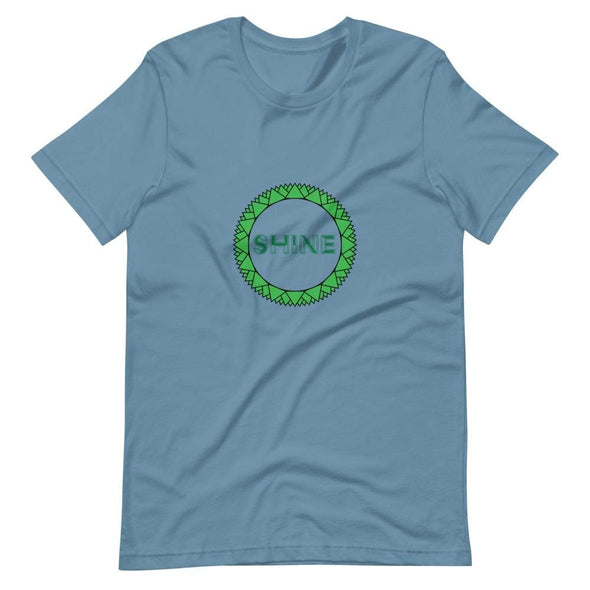 Shine Green Circle Design on Short-Sleeve T-Shirt - Steel