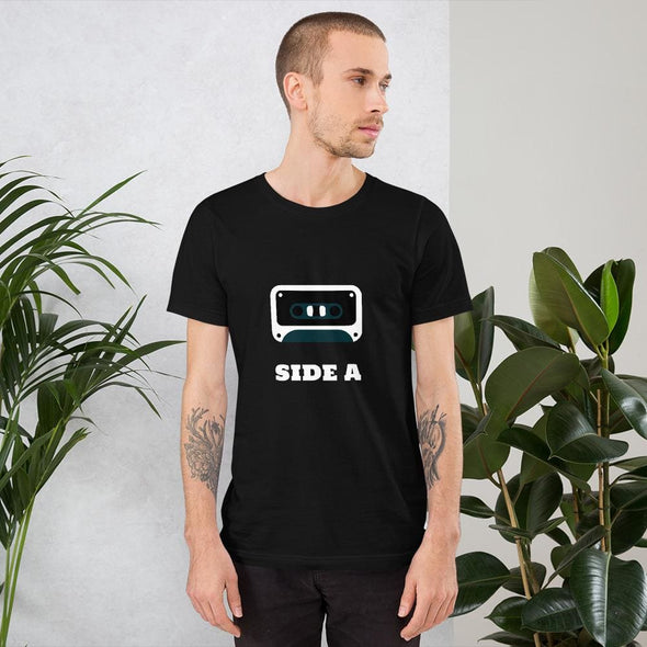 Side A Cassette Tape with Green Tint Men's T-Shirt - Black /