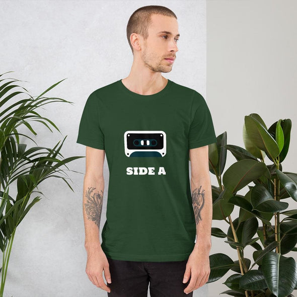 Side A Cassette Tape with Green Tint Men's T-Shirt - Forest