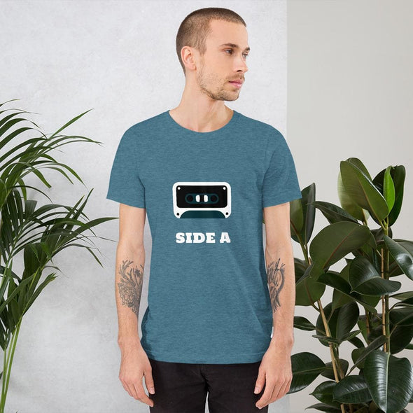 Side A Cassette Tape with Green Tint Men's T-Shirt - Heather