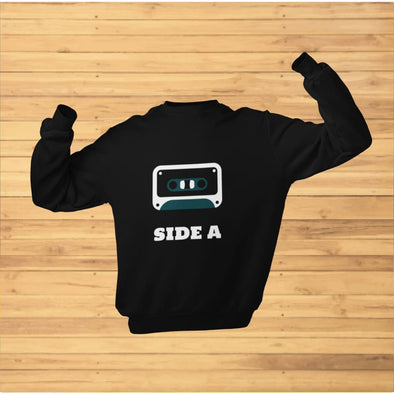Side A Cassette Tape with Green Tint Sweatshirt - Sweatshirt