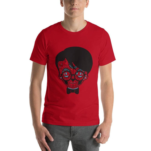 Specs Boy Design on Short-Sleeve T-Shirt - Red / S -