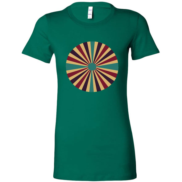 Spiral Design on Longer Body Length T-Shirt - Bella Womens