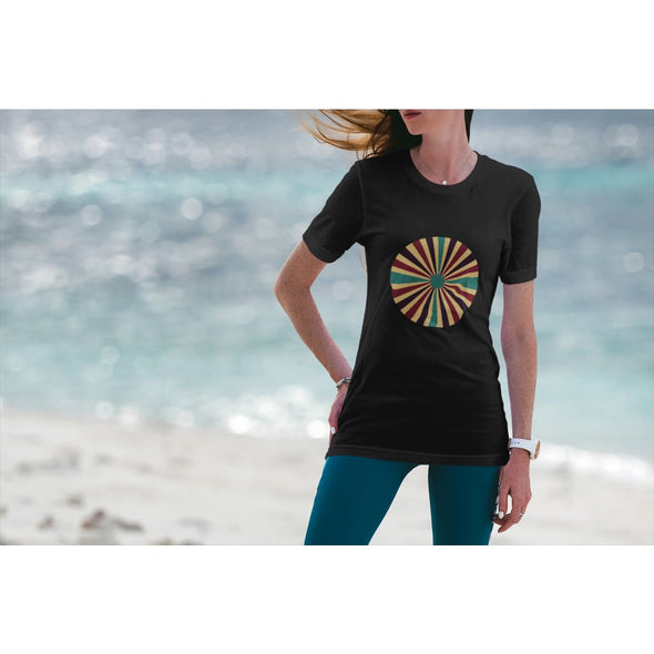 Spiral Design on Longer Body Length T-Shirt - T-shirt