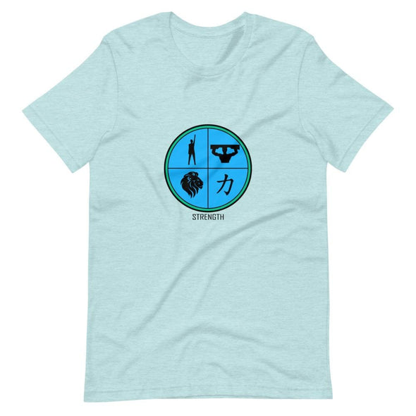 Strength Blue Design on T-Shirt - Heather Prism Ice Blue / S