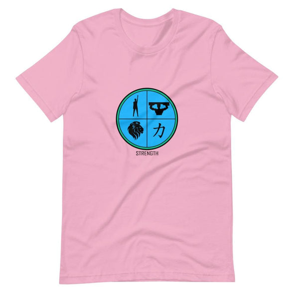 Strength Blue Design on T-Shirt - Lilac / S - T-shirts