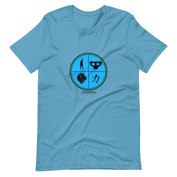 Strength Blue Design on T-Shirt - Ocean Blue / S - T-shirts