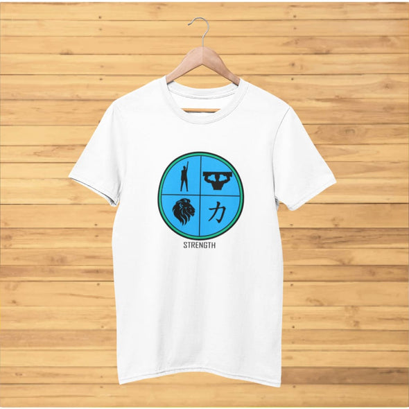 Strength Blue Design on T-Shirt - T-shirts