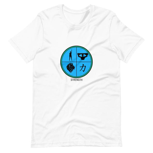 Strength Blue Design on T-Shirt - White / S - T-shirts