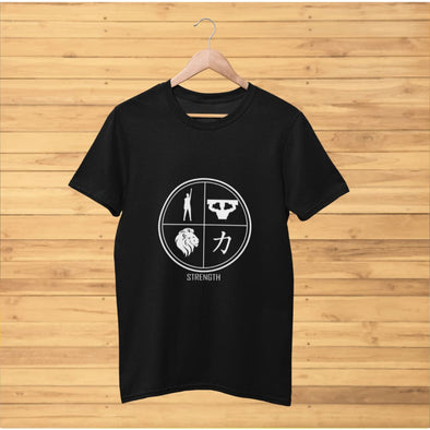 Strength Design on Dark Colored T-Shirt - T-shirts