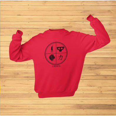 Strength Design on Light Colored Sweatshirt - Sweatshirt