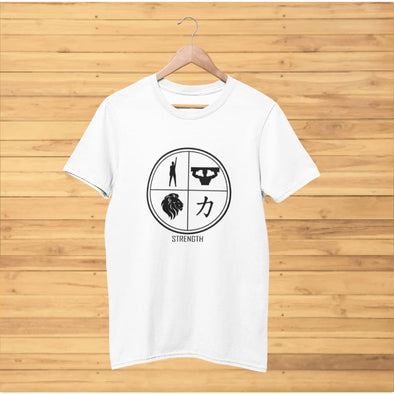 Strength Design on Light Colored T-Shirt - T-shirts