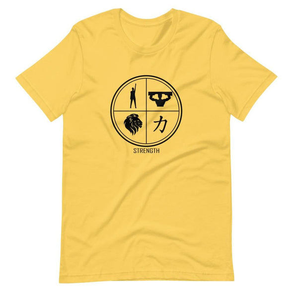 Strength Design on Light Colored T-Shirt - Yellow / S -