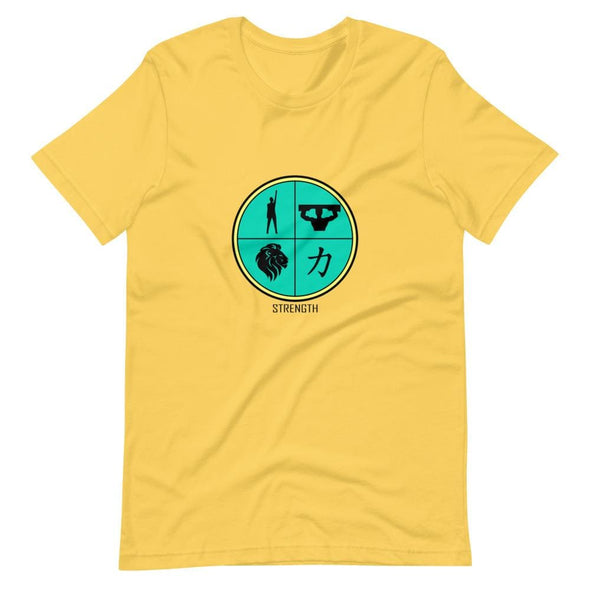 Strength Green Design on T-Shirt - Yellow / S - T-shirts