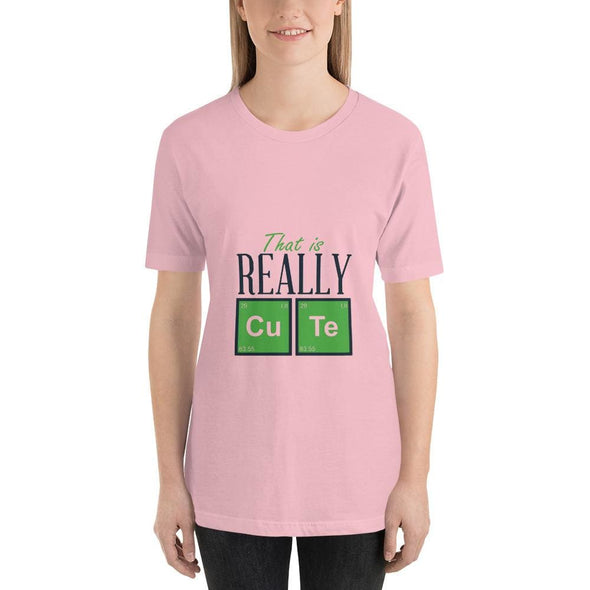 That is Really Cute Design on Light Colored T-Shirt - Pink /