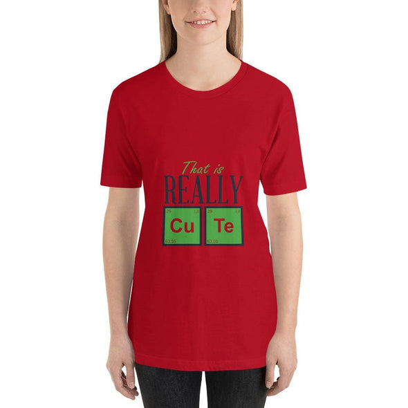 That is Really Cute Design on Light Colored T-Shirt - Red /