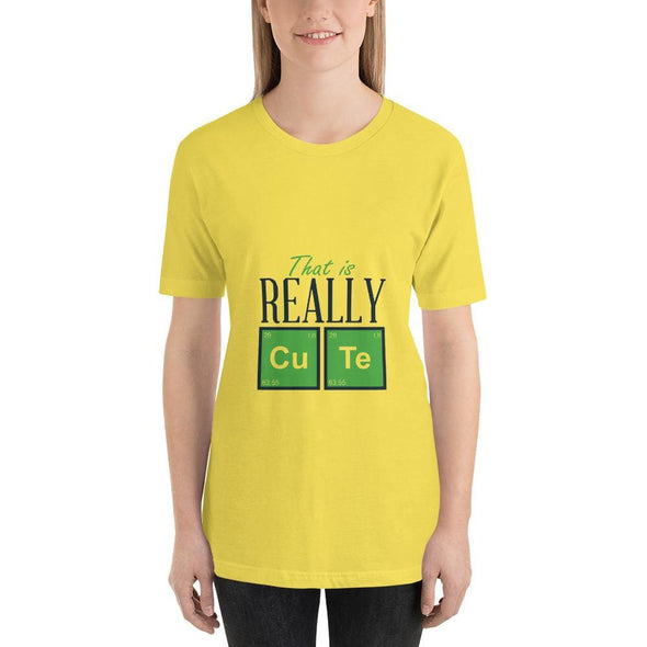 That is Really Cute Design on Light Colored T-Shirt - Yellow