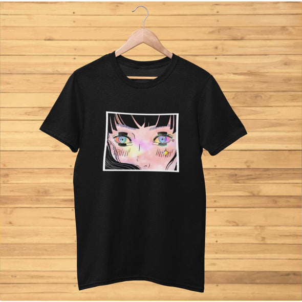 Wide Eye Girl Design on T-Shirt - T-shirts