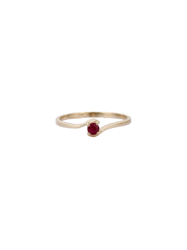14k Ruby Birthstone Ring - Jul
