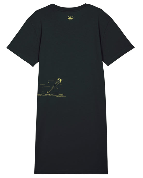 TIME TO FLY | Damen-Shirtkleid organic