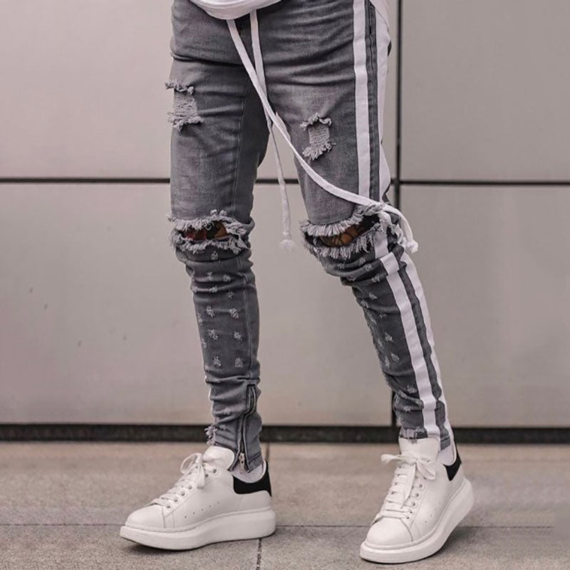 Men's Fashion Street Ripped Jeans
