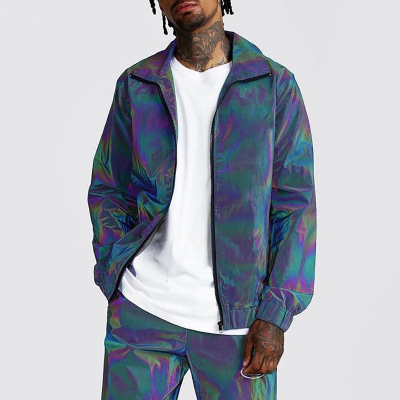 Street style camouflage cool sports suit