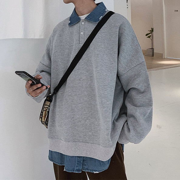 Autumn loose casual fake two sweaters
