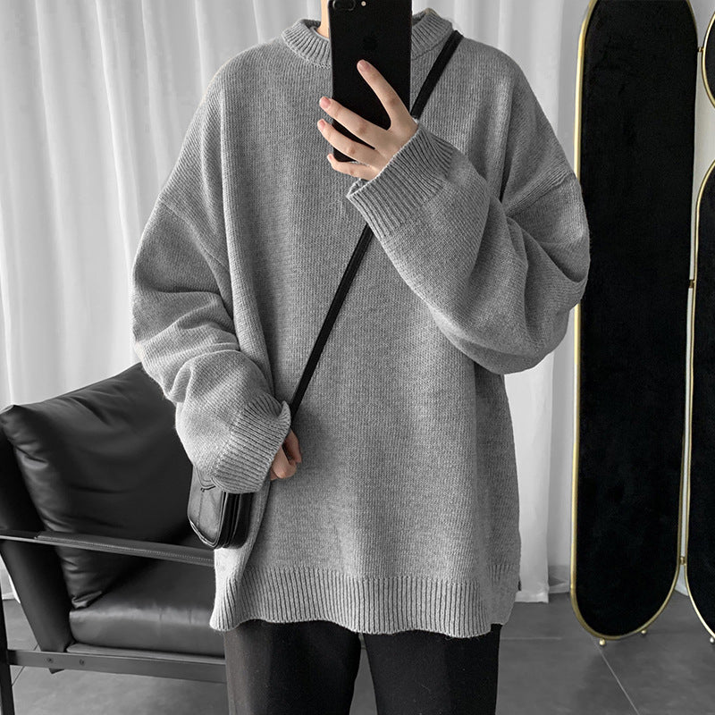 Men's Casual Loose Round Neck Sweater
