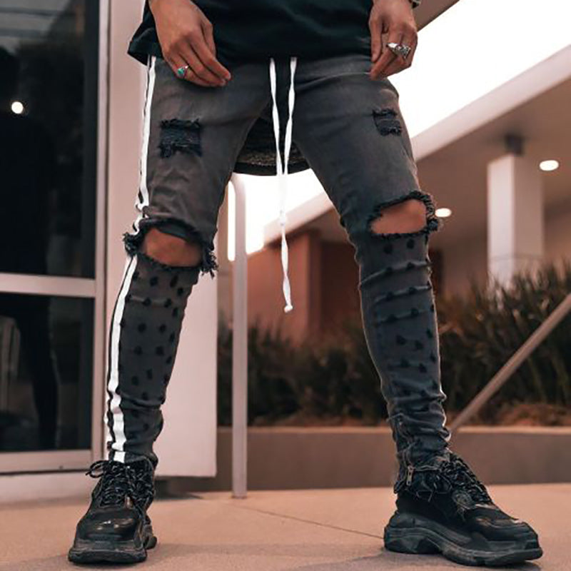 Men's Street Ripped Slim Jeans
