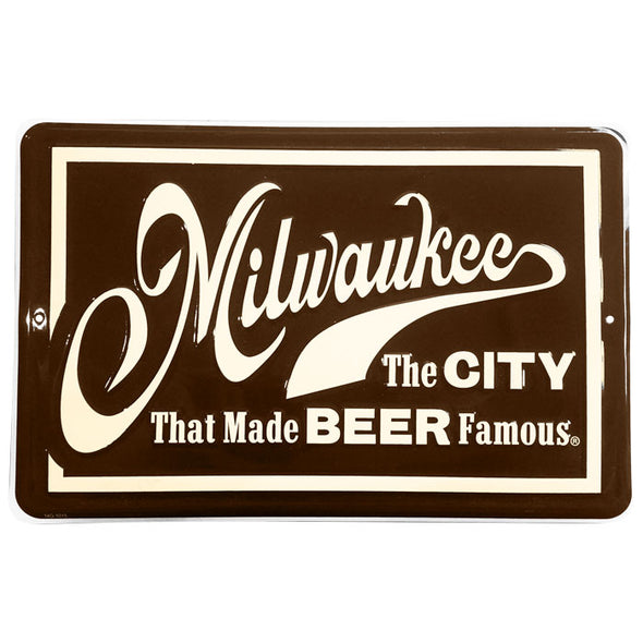Beer Famous Tacker Sign